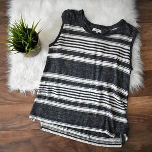 Striped Blue and White Madewell Muscle Tank